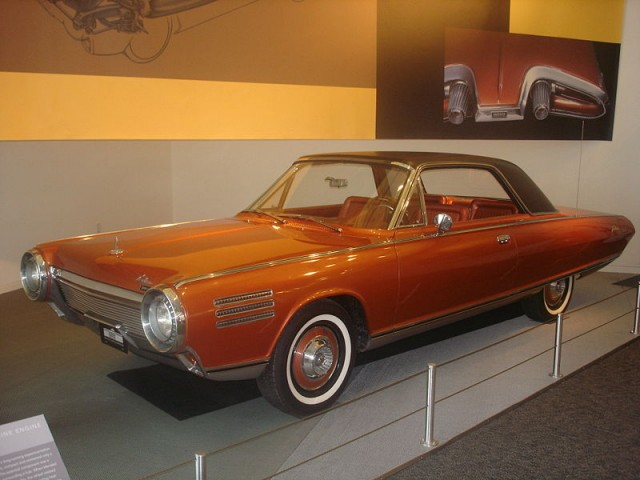1963 Chrysler Turbine concept car, photographed by Wikipedia user Karmann