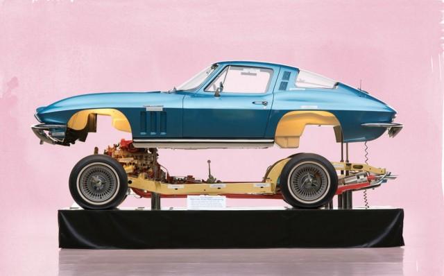 1965 Chevrolet Corvette cutaway Motorama display. Photo via RM Auctions.