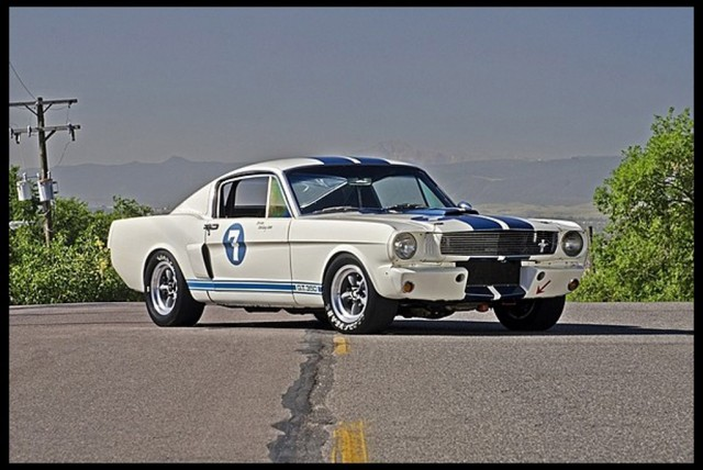 1965 Shelby Mustang GT350 once owned by Sir Stirling Moss - Image: Mecum Auctions