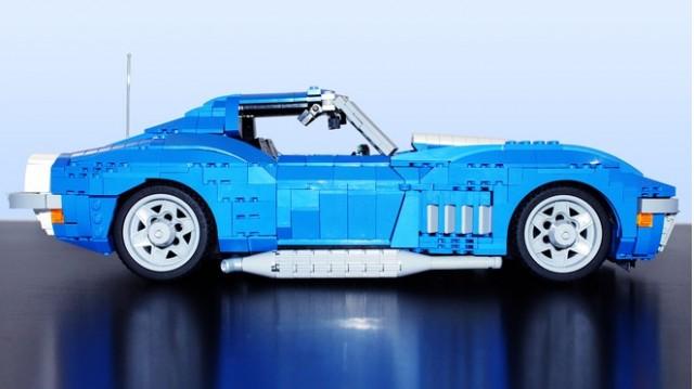 1969 Chevrolet Corvette lego kit by Brickdater, via Lego Ideas.