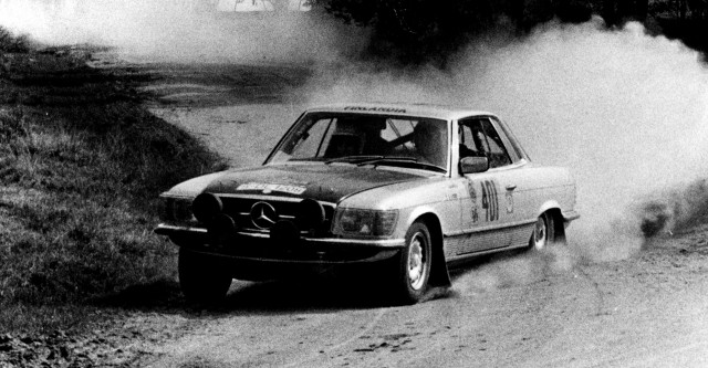 1978 Mercedes-Benz SLC450 rally car