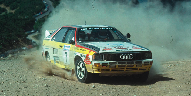 Swedish driver Stig Blomqvist drove the Audi quattro Rallye A2 Group B to a world championship win back in 1984