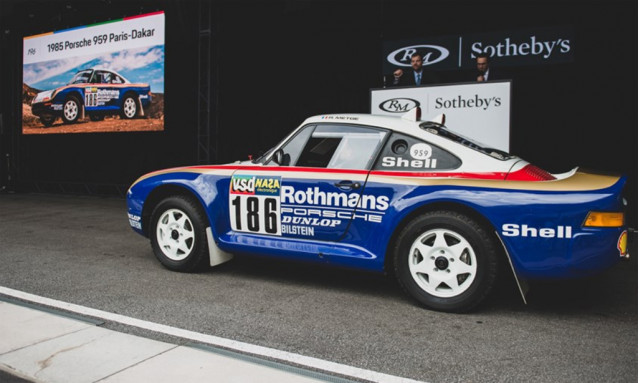 1985 Porsche 959 Paris-Dakar during RM Sotheby's auction - Image via Darin Schnabel