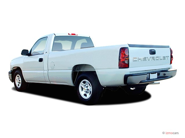 image 2005 chevrolet silverado 1500 reg cab 133 0 wb work truck angular rear exterior view. Black Bedroom Furniture Sets. Home Design Ideas