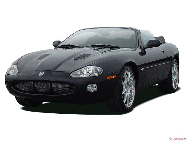 2003 Jaguar XK8 2-door Convertible XKR Angular Front Exterior View