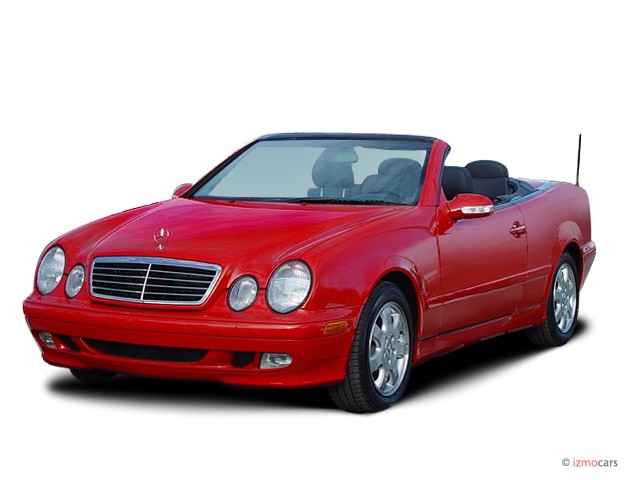 2003 Mercedes-Benz CLK Class 2-door Cabriolet 3.2L Angular Front Exterior View