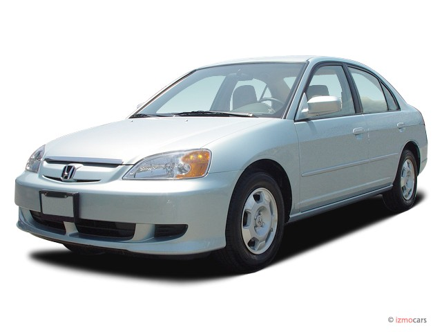 2003 Honda Civic 4-door Sedan Hybrid Manual Angular Front Exterior View