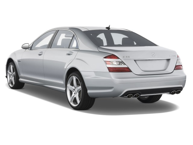 2008 Mercedes-Benz S Class 4-door Sedan 6.3L V8 AMG RWD Angular Rear Exterior View