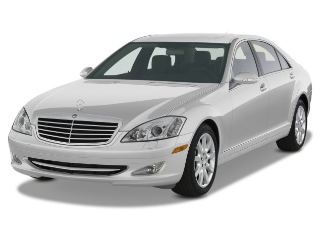 2008 Mercedes-Benz S Class 4-door Sedan 5.5L V8 RWD Angular Front Exterior View