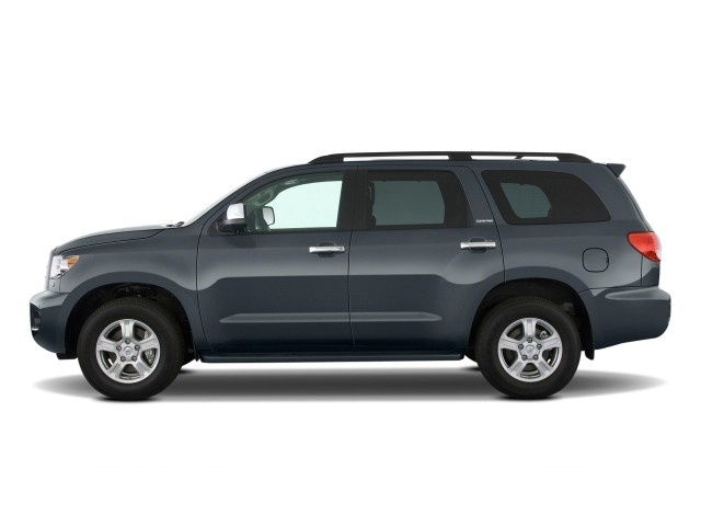 2003 Toyota Tacoma Gas Tank Size >> Image: 2010 Toyota Sequoia RWD LV8 6-Spd AT Ltd (Natl) Side Exterior View, size: 640 x 480, type ...