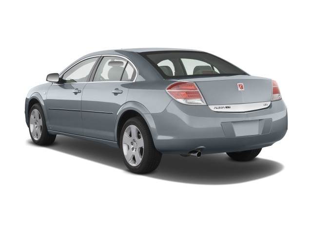 image 2009 saturn aura 4 door sedan i4 xe angular rear. Black Bedroom Furniture Sets. Home Design Ideas