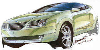 2002 Saab 9-3X concept
