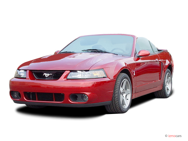 2003 Ford Mustang 2-door Convertible SVT Cobra 10th Anniv Angular Front Exterior View