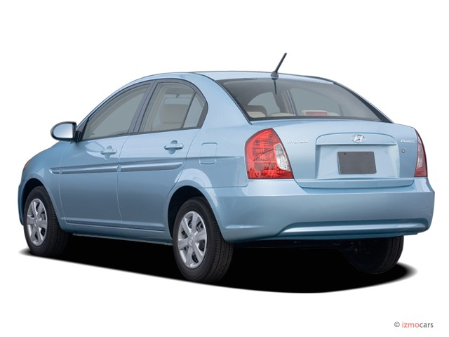 Image: 2006 Hyundai Accent 4-door Sedan GLS Auto Angular Rear ...