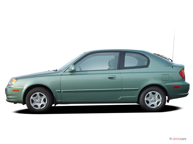 image 2005 hyundai accent 3dr hb coupe gt auto side. Black Bedroom Furniture Sets. Home Design Ideas