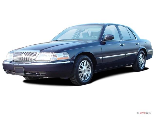 2003 Mercury Grand Marquis 4-door Sedan LS Premium Angular Front Exterior View