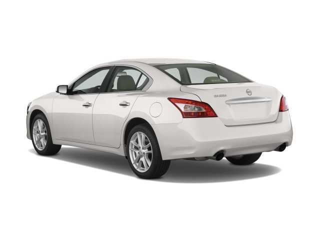 2010 Nissan Maxima 4-door Sedan S Angular Rear Exterior View