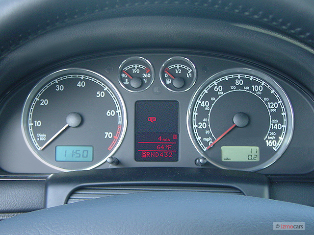 image  volkswagen passat  door sedan gls manual instrument cluster size    type