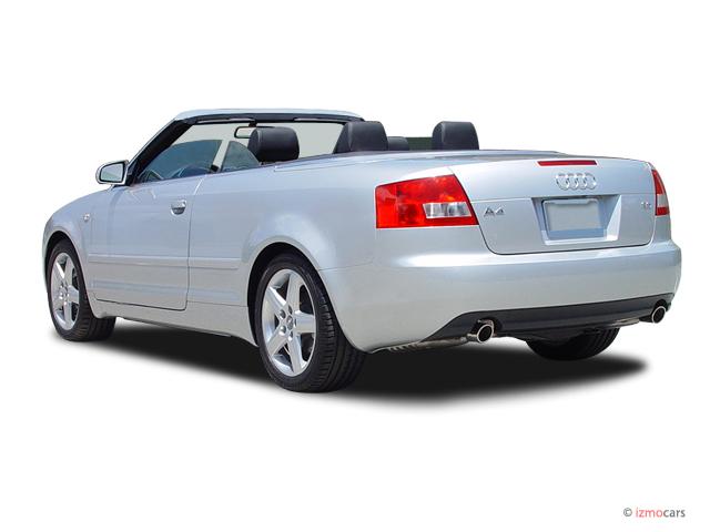 Image: 2004 Audi A4 2004 2-door Cabriolet 3.0L CVT Angular Rear Exterior View, size: 640 x 480 ...