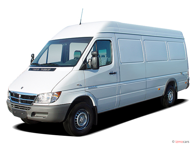 """2004 Dodge Sprinter 2500 High Roof 158"""" WB Angular Front Exterior View"""