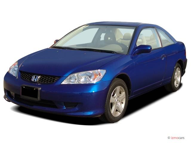 2004 Honda Civic 2-door Coupe EX Auto Angular Front Exterior View
