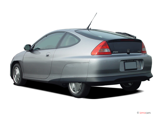 Angular Rear Exterior View 2004 Honda Insight R Hb Cvt W Air Cond