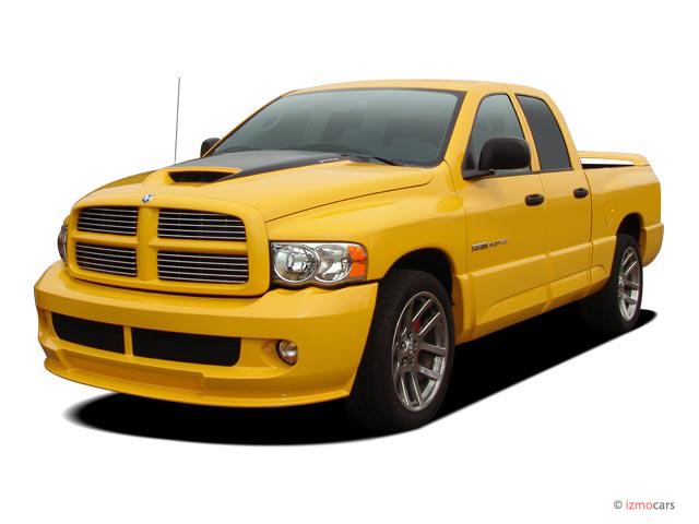 "Image: 2005 Dodge Ram SRT-10 4-door Quad Cab 140.5"" WB Angular Front Exterior View, size: 640 x ..."