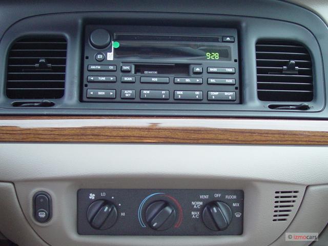 image  ford crown victoria  door sedan standard instrument panel size    type