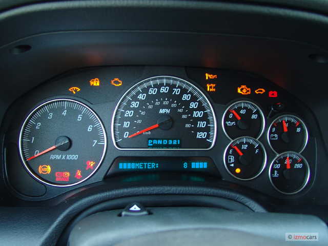 2007 Hyundai Santa Fe Warning Lights >> Image: 2005 GMC Envoy 4-door 4WD Denali Instrument Cluster, size: 640 x 480, type: gif, posted ...