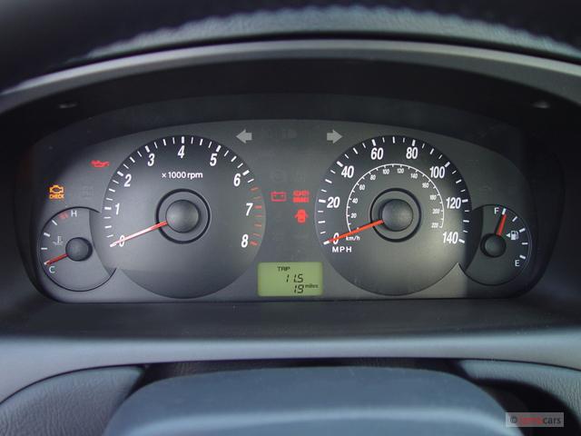 Image: 2005 Hyundai Elantra 5dr Sedan GT Auto Instrument ...