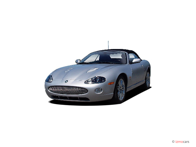2005 Jaguar XK8 2-door Convertible XKR Angular Front Exterior View