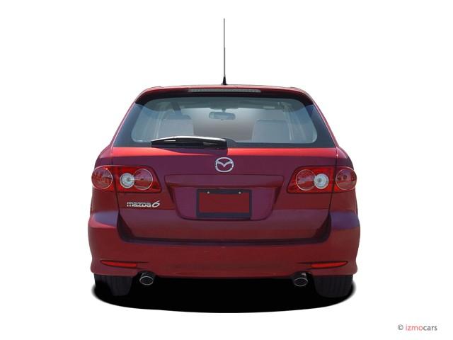image 2005 mazda mazda6 5dr sport wagon s auto rear. Black Bedroom Furniture Sets. Home Design Ideas