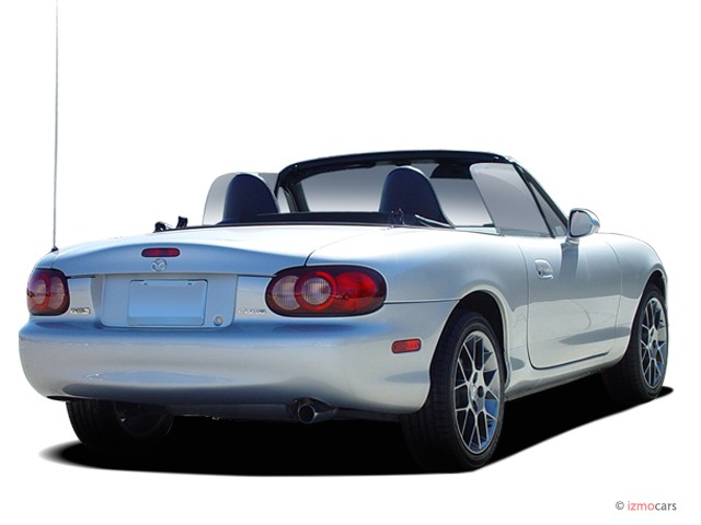 Image 2005 Mazda Mx 5 Miata 2 Door Convertible Ls 5 Spd Manual Angular Rear Exterior View Size