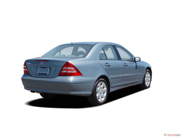 image 2005 mercedes benz c class 4 door sedan 2 6l 4matic awd angular rear exterior view size. Black Bedroom Furniture Sets. Home Design Ideas