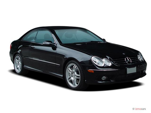 2005 Mercedes Benz CLK Class 2 Door Sport Coupe AMG Angular Front Exterior  View