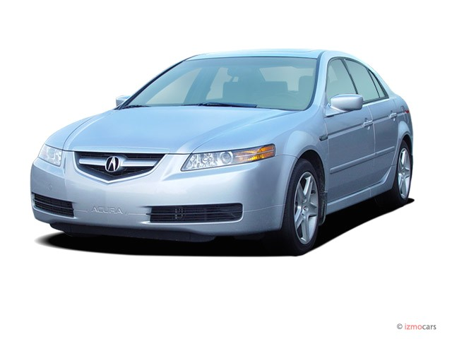 2006 Acura TL 4-door Sedan AT Navigation System Angular Front Exterior View
