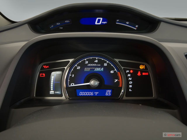 Honda Pilot Gas Mileage >> Image: 2006 Honda Civic Hybrid CVT Instrument Cluster, size: 640 x 480, type: gif, posted on ...