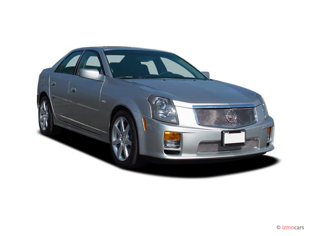 2007 Cadillac CTS-V 4-door Sedan Angular Front Exterior View
