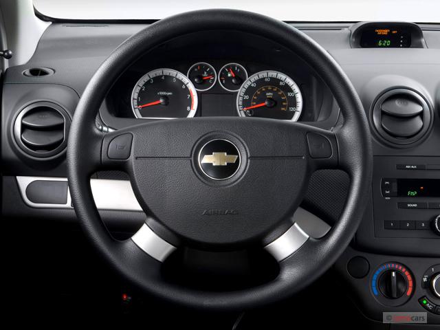 Image: 2007 Chevrolet Aveo 4-door Sedan LS Steering Wheel ...