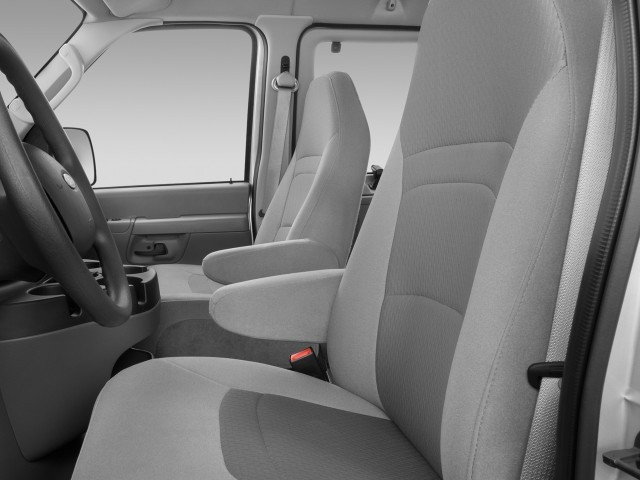 Image: 2008 Ford Econoline Wagon E-150 XLT Front Seats ...