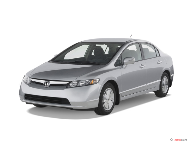 Angular Front Exterior View - 2007 Honda Civic Hybrid 4-door Sedan