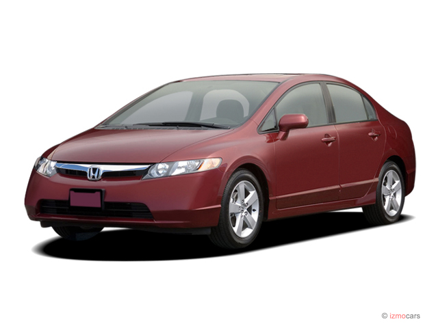 2007 Honda Civic Sedan 4-door AT EX Angular Front Exterior View