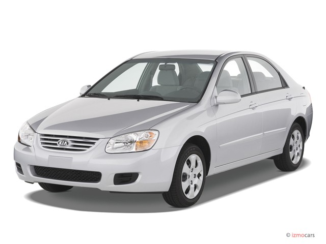 2007 Kia Spectra 4-door Sedan Auto EX Angular Front Exterior View