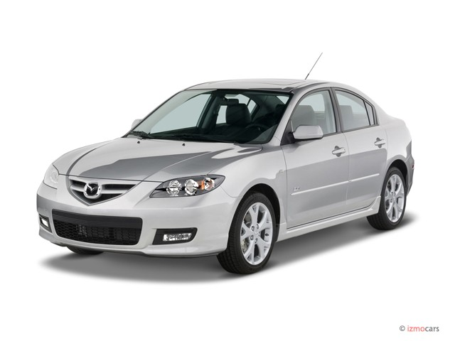 2007 Mazda MAZDA3 4-door Sedan Auto s Touring Angular Front Exterior View