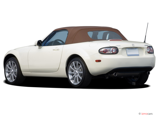 2007 Mazda MX 5 Miata 2 Door Convertible Manual Grand Touring Angular Rear  Exterior View