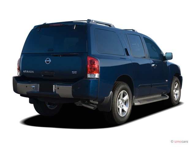 Image: 2007 Nissan Armada 2WD 4-door SE Angular Rear ...