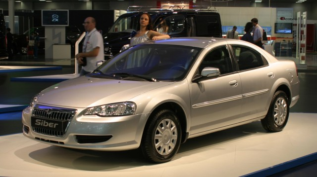 2007 Volga Siber based on the Chrysler Sebring and manufactured by GAZ