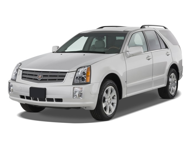 2008 Cadillac SRX RWD 4-door V6 Angular Front Exterior View