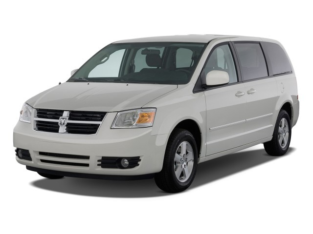 2008 Dodge Grand Caravan 4-door Wagon SXT Angular Front Exterior View