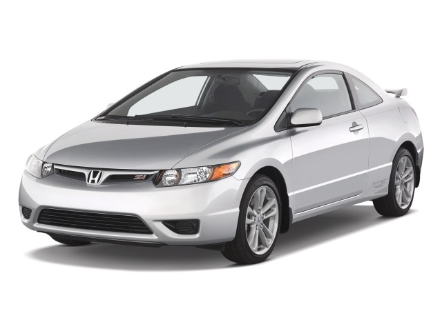 2008 Honda Civic Coupe 2-door Man Si Angular Front Exterior View